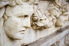 Παλαιό ελληνικό γλυπτό προσώπου Στοκ φωτογραφία με δικαίωμα ελεύθερης χρήσης