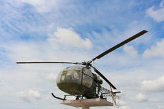 Παλαιό ελικόπτερο στην Ταϊλάνδη στοκ εικόνες