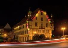 Παλαιό δημαρχείο τη νύχτα Στοκ Εικόνες