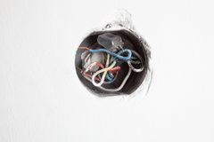 Παλαιό ηλεκτρικό κιβώτιο διανομής Στοκ Φωτογραφία
