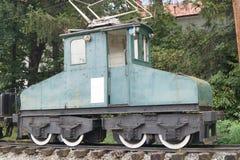 Παλαιό ηλεκτρικό τραίνο αγαθών Στοκ Φωτογραφία