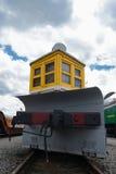 Παλαιό ηλεκτρικό τραίνο diesel ύφους Στοκ Φωτογραφίες