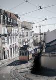 Παλαιό ηλεκτρικό τραμ της Λισσαβώνας Στοκ Εικόνες
