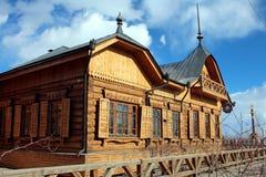 Παλαιό θηλυκό γυμνάσιο σε Yakutsk, Ρωσία Στοκ Εικόνες
