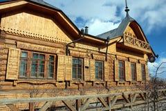 Παλαιό θηλυκό γυμνάσιο σε Yakutsk, Ρωσία Στοκ φωτογραφία με δικαίωμα ελεύθερης χρήσης