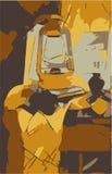 Παλαιό διάνυσμα λαμπτήρων Στοκ εικόνα με δικαίωμα ελεύθερης χρήσης
