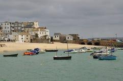 Παλαιό λιμάνι Αγίου Ives, Κορνουάλλη, Αγγλία, UK στοκ φωτογραφία