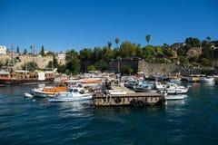 Παλαιό λιμάνι σε Antalya στην Τουρκία Στοκ Φωτογραφίες