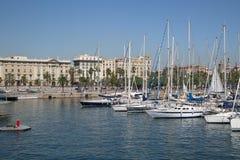 Παλαιό λιμάνι της Βαρκελώνης Στοκ εικόνες με δικαίωμα ελεύθερης χρήσης