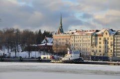 Παλαιό λιμάνι του Ελσίνκι το χειμώνα Στοκ φωτογραφία με δικαίωμα ελεύθερης χρήσης
