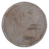 Παλαιό ινδικό νόμισμα ρουπίων δύο Στοκ Εικόνα