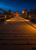 Παλαιό κάστρο στο χρόνο ηλιοβασιλέματος Στοκ Φωτογραφίες