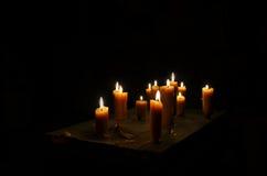 Παλαιό κάψιμο κεριών στοκ εικόνα με δικαίωμα ελεύθερης χρήσης