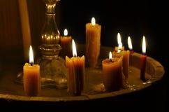 Παλαιό κάψιμο κεριών στοκ εικόνες