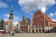 Παλαιό κέντρο της πόλης της Ρήγας στο καλοκαίρι, Λετονία Στοκ Εικόνες