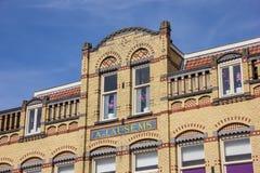 Παλαιό κίτρινο κτήριο στο κέντρο Culemborg στοκ φωτογραφία