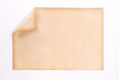 Παλαιό και έγγραφο ρύπου για το άσπρο υπόβαθρο Στοκ φωτογραφία με δικαίωμα ελεύθερης χρήσης