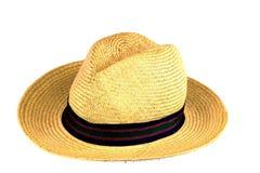 Παλαιό καπέλο αχύρου στο άσπρο υπόβαθρο Στοκ Εικόνες