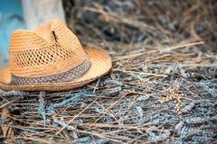 Παλαιό καπέλο αχύρου Στοκ Εικόνες