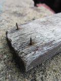Παλαιό καρφί στο ξύλο Στοκ φωτογραφίες με δικαίωμα ελεύθερης χρήσης