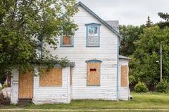 Παλαιό καταδικασμένο σπίτι Στοκ εικόνα με δικαίωμα ελεύθερης χρήσης