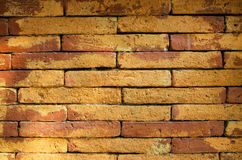 Παλαιό καφετί σχέδιο υποβάθρου τουβλότοιχος αφηρημένο Στοκ Εικόνα