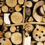 Παλαιό καφετί φυσικό ξύλινο υπόβαθρο, σπίτι μελισσών στοκ εικόνα με δικαίωμα ελεύθερης χρήσης