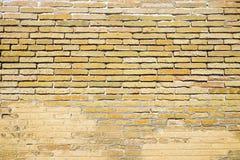 Παλαιό καφετί brickwall Στοκ Εικόνα