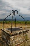 Παλαιό καλά Wineyard σε Chianti στην Τοσκάνη Στοκ Φωτογραφίες