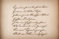 Παλαιό καλλιγραφικό χειρόγραφο έτοιμος τρύγος σύστασης εγγράφου μηνυμάτων σας Στοκ Φωτογραφία