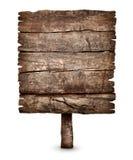 Παλαιό κενό ξεπερασμένο ξύλινο σημάδι πινάκων Στοκ φωτογραφία με δικαίωμα ελεύθερης χρήσης