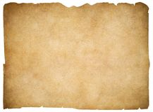 Παλαιό κενό περγαμηνή ή έγγραφο που απομονώνεται ψαλίδισμα Στοκ εικόνα με δικαίωμα ελεύθερης χρήσης