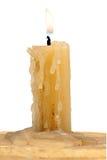 Παλαιό κερί που απομονώνεται σε ένα άσπρο υπόβαθρο Στοκ εικόνα με δικαίωμα ελεύθερης χρήσης