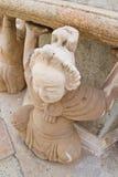Παλαιό κινεζικό άγαλμα πετρών στο wat Po Στοκ Φωτογραφία