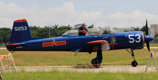 Παλαιό κινεζικό πολεμικό αεροσκάφος με πειραματικό Στοκ Φωτογραφία