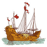 Παλαιό κινεζικό σκάφος Στοκ Εικόνες