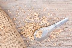 Παλαιό κουτάλι με ξύλινο Στοκ φωτογραφία με δικαίωμα ελεύθερης χρήσης