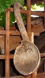 παλαιό κουτάλι ξύλινο Στοκ εικόνα με δικαίωμα ελεύθερης χρήσης