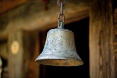 Παλαιό κουδούνι στο μουσείο Στοκ Φωτογραφίες