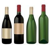 παλαιό κρασί ραφιών μπουκαλιών Στοκ Εικόνα