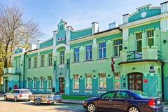 Παλαιό κτήριο σε Ventspils στη Λετονία Στοκ Φωτογραφία