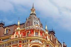 Παλαιό κτήριο στο ύφος νεω-αναγέννησης σε Kyiv Η αναγέννηση Kyiv ` ξενοδοχείων ` Στοκ Φωτογραφία