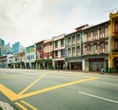 Παλαιό κτήριο ύφους shophouse σε Chinatown στη Σιγκαπούρη Στοκ Εικόνες