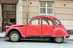 παλαιό κόκκινο αυτοκινήτων Στοκ Εικόνα