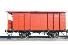 Παλαιό κόκκινο βαγόνι εμπορευμάτων τραίνων Στοκ Εικόνα