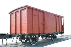 Παλαιό κόκκινο βαγόνι εμπορευμάτων τραίνων, Στοκ εικόνες με δικαίωμα ελεύθερης χρήσης