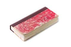 Παλαιό κόκκινο βιβλίο απολογισμού, που απομονώνεται στοκ εικόνες