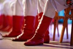 παλαιό κόκκινο μποτών Στοκ Φωτογραφίες