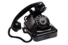 Παλαιό μαύρο εκλεκτής ποιότητας τηλέφωνο ύφους από το γάντζο Στοκ Εικόνες