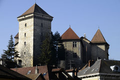 Παλαιό μεσαιωνικό κάστρο της πόλης του Annecy, Γαλλία Στοκ Φωτογραφία